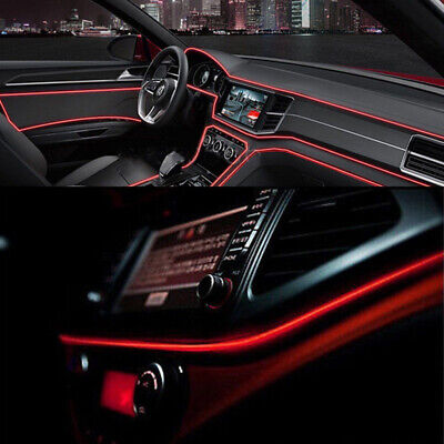 £6.99 • Buy 2M Red LED Car Interior Decoration Atmosphere Wire Strip Light Lamp Accessories