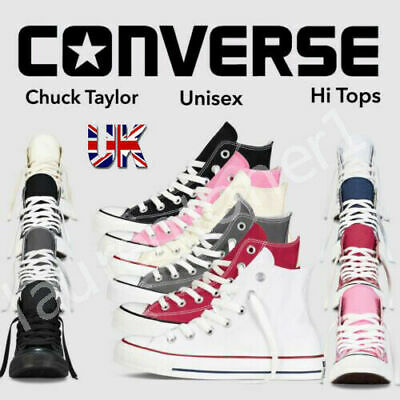 $ CDN37.84 • Buy All Star Converse High Top Trainers Unisex Mens Womens Chuck Taylor Canvas Shoes