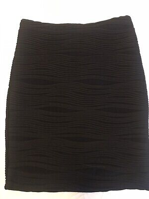 AU9.90 • Buy Forever New Women's Skirt - Size 6, Black Textured Fabric, Worn And Like New