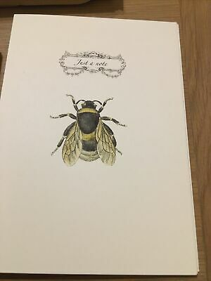 £4.50 • Buy Quality Vintage Bee Writing Note Cards Set