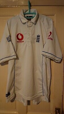 Rare Admiral England ECB Test Cricket Shirt - Size Large. • 19.99£