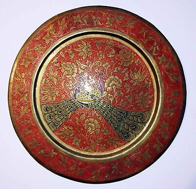 Classic Indian Brass Circular Engraved Wall Plate - NEVER USED • 45£