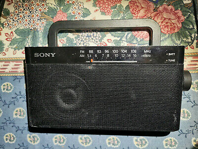 Sony ICF-306 Portable FM/AM Tuner Mono Speaker LED Radio(EX-DISPLAY ITEM) • 15£