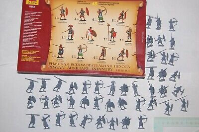 Toy Soldiers Zvezda Russia - 45 Pieces In 1/72 - Roman Auxiliary Infantry • 6.51£