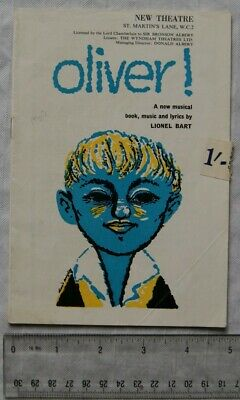 £2 • Buy 1960 Programme Oliver!, New Theatre