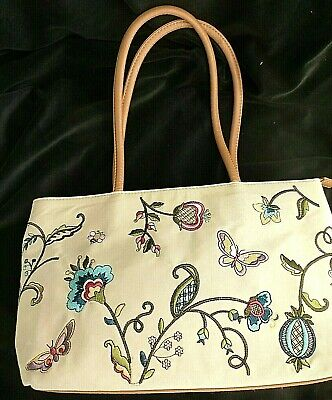 Ladies Bag. Tudor Style Embroidery . Knitting Storage.. Craft Tote. Un-used. • 8.50£