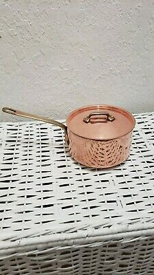$ CDN62.48 • Buy Vintage 1 Quart Copper Heavy Weight Saucepan With Lid Used