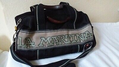 La Martina Polo Kit Duffle Weekend Bag With Strap, Leather Handles, Ex Condition • 9.99£