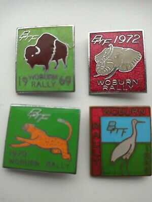 Rare 4 Vintage Metal Enamel Motorcycle BMF Woburn Rally Badges 1968-69-70-72  • 19.99£