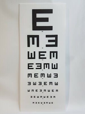Eye Test Chart Light Box Replacement Main Front Cover Opticians Display EE • 44.99£