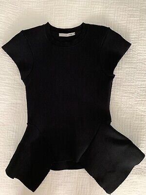 AU110 • Buy SCANLAN THEODORE Black Crepe Knit Peplum Top S