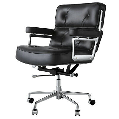 AU430 • Buy NEW Desk Chair Computer Work Office Chair Executive Mid-Back Genuine/PU Leather