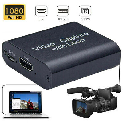 1080P Video Capture Card Screen Recorder Box HDMI-compatible Game Capture Device • 14.98£