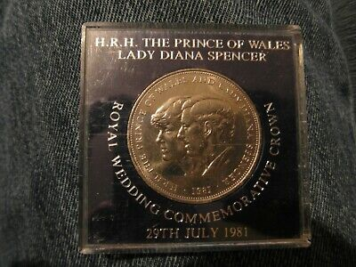 1981, Prince Charles And Lady Diana Spencer, Wedding Commemorative Crown Coin • 3.99£