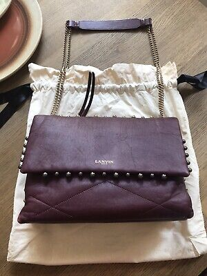 Authentic LANVIN Sugar Stud Maroon Bag Limited Edition Mint Condition • 1,107.50£