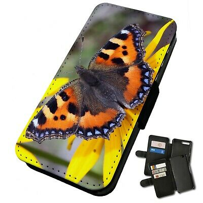 Printed Faux Leather Flip Phone Case For IPhone -Various Butterflies & Moths • 9.75£