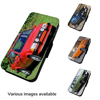 Printed Faux Leather Flip Phone Case For IPhone- V3 Various Classic Car Motorist • 9.75£