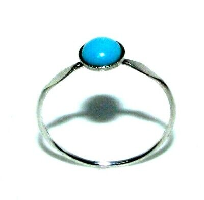 Ladies Womens 925 Sterling Silver Turquoise Ring UK Size R1/2 • 6£