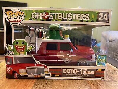 Ghostbusters Ecto-1 With Slimer Funko Pop 2016 Summer Exclusive Rides • 42.50£