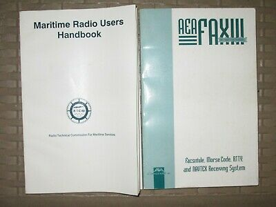 2 Books Maritime Ham Radio Users Handbook AEA FAX NAVTEX Receiving System • 12.87£