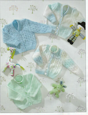 £1.55 • Buy Easy Baby Cardigans Dk Knitting Pattern 12 -22 Ins Premature Sizes Included