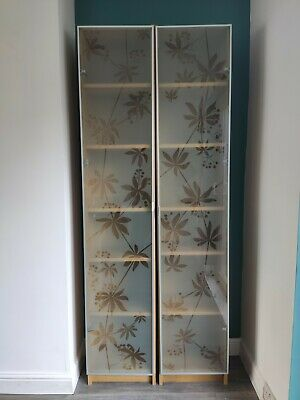 IKEA BILLY NYCKELBY Tall Tempered Glass Bookcase, 2 Available Storage Unit BS15  • 20£