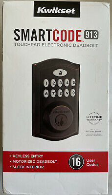 $ CDN63.29 • Buy Kwikset SmartCode 913 Venetian Bronze Single Cylinder Electronic Deadbolt Smart