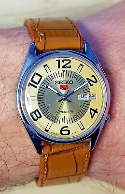 $ CDN25.21 • Buy Vintage Seiko 5 Automatic Watch 6309-5820, New Leather Strap