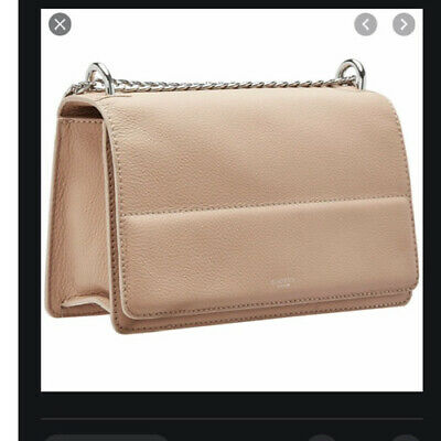 AU120 • Buy Oroton Forte Pebble Leather Chain Bag In A Nude Colour. Used Once.