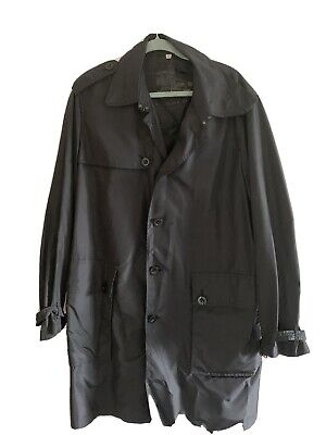 $117 • Buy MENS BURBERRY DOUBLE BREASTED TRENCH COAT BLACK XL. Fits A Size 44
