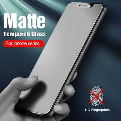 AU13.90 • Buy Matte Frosted Tempered Glass Screen Protector For Iphone 12 Pro Max 11 Xr Xs X 8