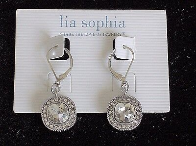 $ CDN16.24 • Buy Beautiful Lia Sophia  BELLA DONNA  /  CRYSTAL CLEAR  Dangle Earrings, NWT
