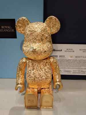 $3499 • Buy MEDICOM 2020 Bearbrick Royal Selangor Arabesque Gold 400% Pewter Be@rbrick