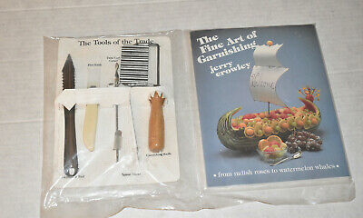 £14.29 • Buy The Fine Art Of Garnishing~Jerry Crowley~With 5 Tools Of The Trade~New~Sealed