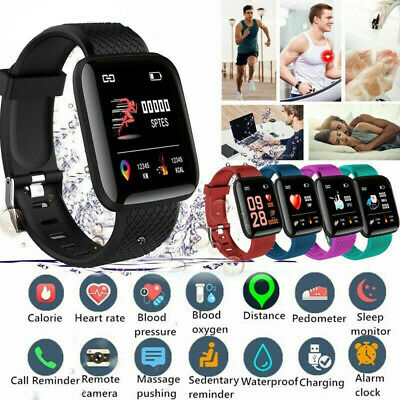 AU13.18 • Buy Waterproof  Smart Wrist Watch Bluetooth Heart Rate Monitor Tracker For Android