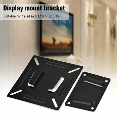 Slim Wall Mount Monitor LCD LED TV Bracket Black Stand For 14 19 20 22 23 24  • 3.69£