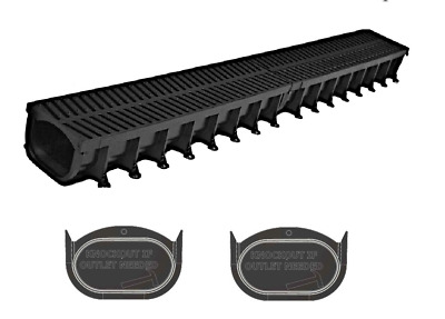 £45.54 • Buy Garage Water Drainage System Channel & Grate 6m Kit With 2 X End Stops