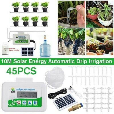 Automatic Solar Plant Watering System Irrigation Water Drip Kit Watering Timer • 32.99£