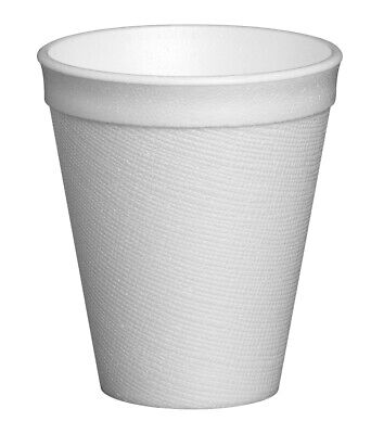 Dart 7oz Polystyrene Insulated Foam Cups Case Of 1000 Disposable Hot Cold Cup  • 18.99£