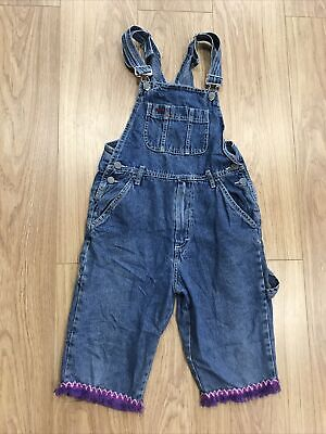 """Girls Dungarees Shorts Age 11–12 Years (26"""" W) Unbranded Blue Denim JG421 • 8.99£"""