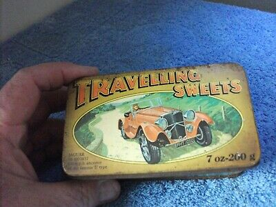 RARE Vintage Collectable Travelling Sweet Tin - With Pictures Of Transport 1937 • 11£