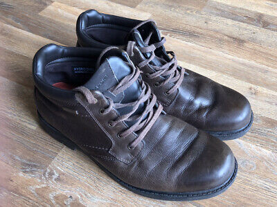 Mens Rockport Boots Size 9 Brown Leather Lace Ups • 21£