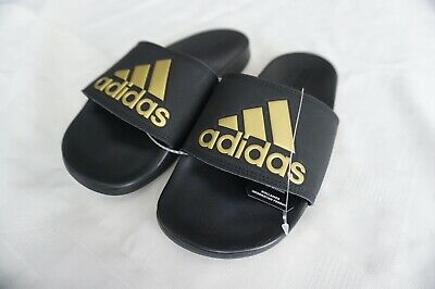 AU50.57 • Buy Adidas Adilette Comfort Slides Sandals B41742 Black/gold Size 6