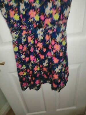 Ladies Mini Floral Dress.Ideal For Holidays.Size 14 By H&M • 2.99£