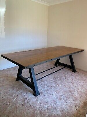 AU700 • Buy Stunning Industrial 8 Seater Dining Table