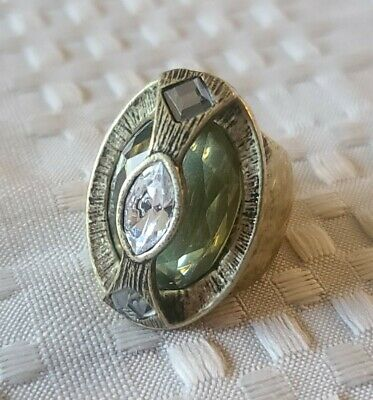 $ CDN25.23 • Buy Lia Sophia Alchemy Ring Size 7 Antique Gold Tone Brass  Signed NWT Statement