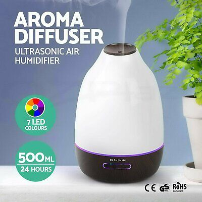 AU27.49 • Buy LED Aroma Aromatherapy Diffuser Essential Oil Air Humidifier Purifier 500ML