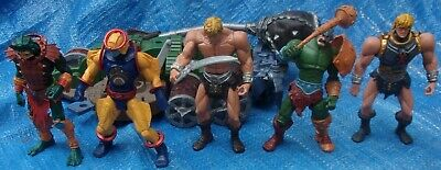 $80.50 • Buy MOTU 200X Action Figure Lot He-Man Mer-Man At Arms Sy Klone Masters Of Universe