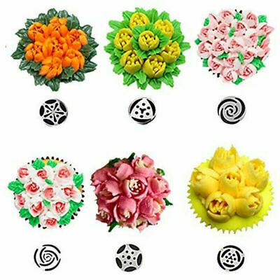 15pcs/set Russian Leaf Flower Icing Piping Nozzle Tips Cake Topper Baking Tools • 8.38£