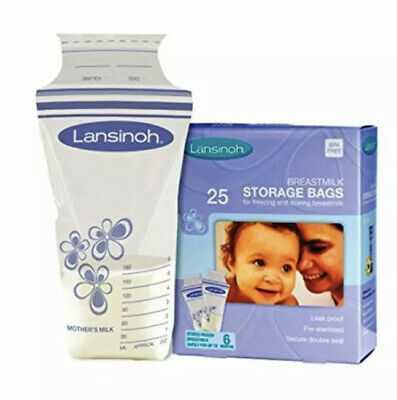 Lansinoh Breast Milk Storage Bags Breastmilk Pouches (34 Pouches) • 0.99£